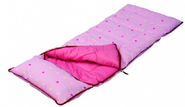 SunnCamp Junior Pink Dotty Kids Sleeping Bag